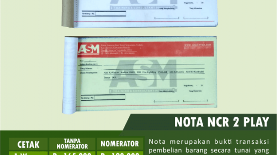 Jasa Cetak Nota Bon Murah