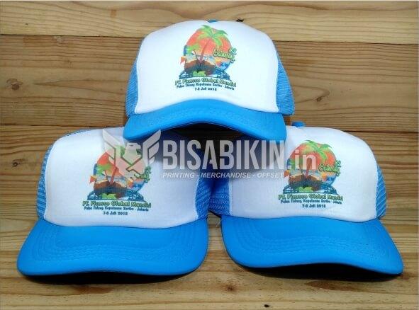 cetak topi satuan custom